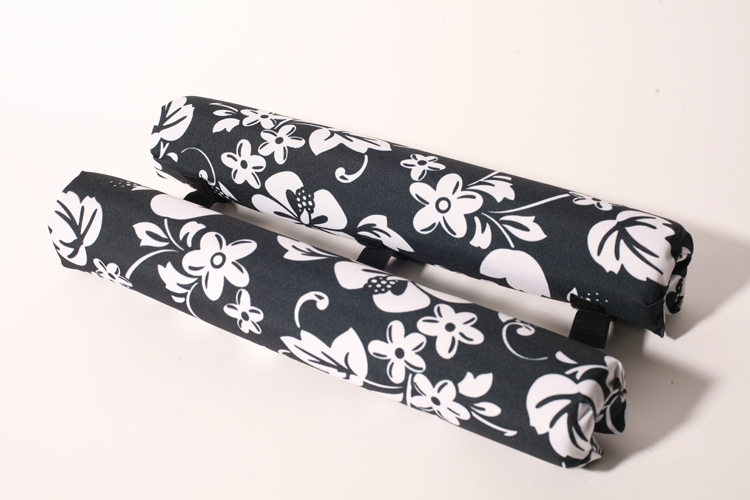 roof rack pads 18 inch black floral