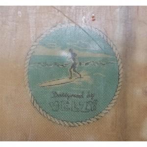Velzy Balsa Surfboard rope logo