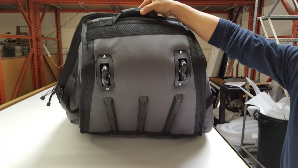 Wheeled Coffin Travel Bag Vitamin Blue