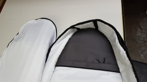 Interior Nose of our Coffin Travel Bag