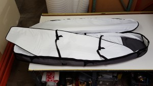 Interior of our SUP Coffin Travel Bag